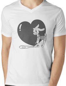 Heart Pounding Mens V-Neck T-Shirt