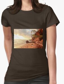 Northern Territory beach Womens Fitted T-Shirt