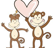 Monkey Love by kwg2200