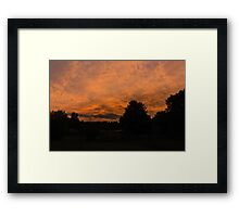 Morning dawn in the country Framed Print