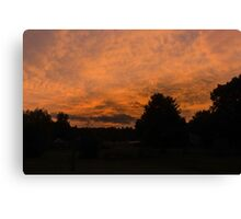 Morning dawn in the country Canvas Print