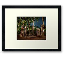 The Angered Tiki Gods Framed Print