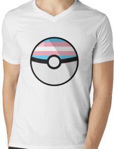 Trans Pokeball Mens V-Neck T-Shirt