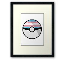 Trans Pokeball Framed Print
