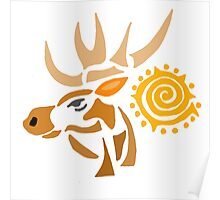 Artistic Cool Moose Art Abstract  Poster