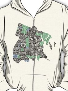 Bronx, New York City Typography Map T-Shirt