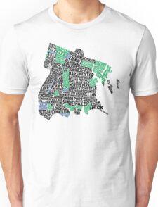 Bronx, New York City Typography Map Unisex T-Shirt