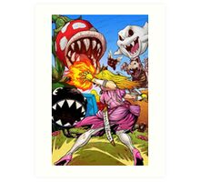 Peach Attack Art Print