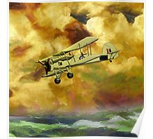 WWII Swordfish biplane of the Royal Navy - pillow & tote design Poster