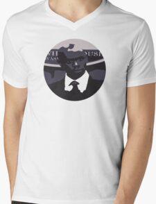 Black Bush Mens V-Neck T-Shirt