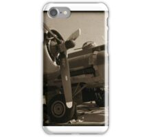 Vintage Airplanes Black and White iPhone Case/Skin