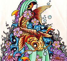 Koi fish  by Adam  Parsons