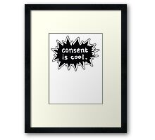 Consent is Cool Comic Flash Black Framed Print