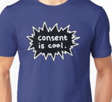 Consent is Cool Comic Flash Black Unisex T-Shirt