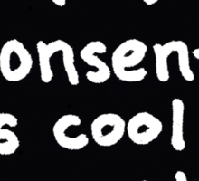 Consent is Cool Comic Flash Black Sticker