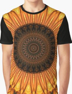 Mandala in yellow, brown and golden tones Graphic T-Shirt