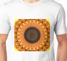 Mandala in yellow, brown and golden tones Unisex T-Shirt