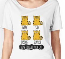 How To Read Your Cat Funny Chart Women's Relaxed Fit T-Shirt