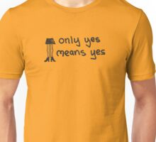 Only Yes Means Yes - Not Skirts (Black) Unisex T-Shirt