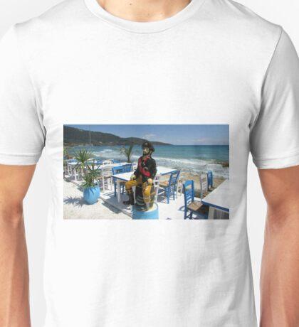 YO HO HO ! AND A BOTTLE OF  OUZO. Unisex T-Shirt