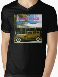SOUTH BEACH TRANSPORTATION Mens V-Neck T-Shirt