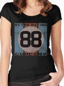 """Retro Racing Company """"88"""" Women's Fitted Scoop T-Shirt"""