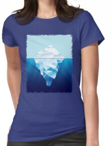 Ice Burg And Polar Bear Womens Fitted T-Shirt