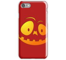 Cheeky Pumpkin Face on Blood Red iPhone Case/Skin