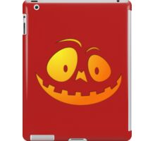 Cheeky Pumpkin Face on Blood Red iPad Case/Skin
