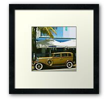 SOUTH BEACH TRANSPORTATION Framed Print