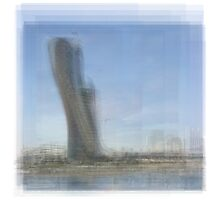 Capital Gate Tower Abu Dhabi Photographic Print