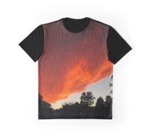 Invasion of the Sunset Cloud Spaceship Graphic T-Shirt