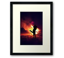 ✿♥‿♥✿ IT ONLY TAKES A SPARK TO GET A FIRE GOIN..BURNIN LOVE CARD/PICTURE✿♥‿♥✿ Framed Print