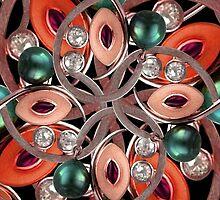 Luxury Collage Ornament New Noveau Artwork by DFLC Prints