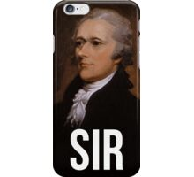 Alexander Hamilton Portrait Sir iPhone Case/Skin