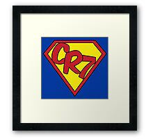 -SPORTS- CR7 Superman Style Framed Print