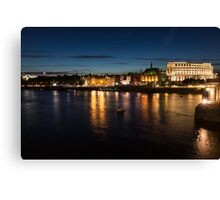London Night Magic - Silky Reflections on the Thames River Canvas Print