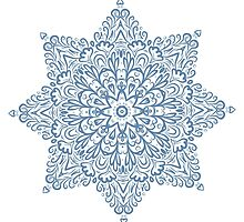 Beautiful white curly star Throw Pillow by spoll