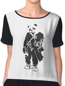 Panda Pong Chiffon Top
