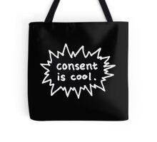 Consent is Cool Comic Flash Black Tote Bag