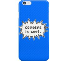 Consent is Cool Comic Flash iPhone Case/Skin