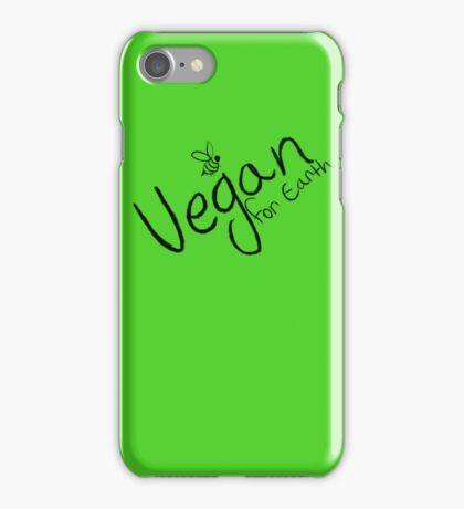 Vegan for earth iPhone Case/Skin
