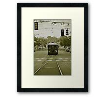 Vintage Main St Trolley  Framed Print