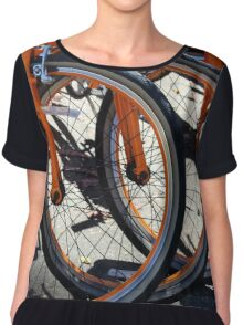 Bike Wheels Chiffon Top