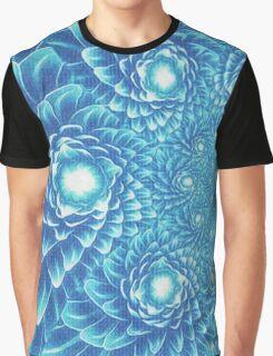 Fresh Modern Green Warp Cactus Pattern Fractal Art! Graphic T-Shirt