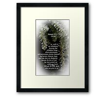Hope and Love in Tough Times Framed Print