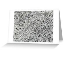 Abstract Ink Greeting Card