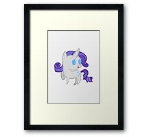 Rarity Chibi Framed Print
