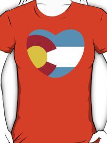 Colorado Love, Offset, Cyan T-Shirt