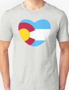 Colorado Love, Offset, Cyan Unisex T-Shirt